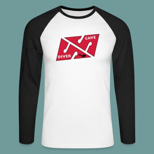 cave_diver_01 - T-shirt baseball manches longues Homme