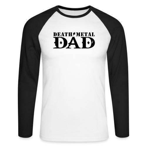 death metal dad - Mannen baseballshirt lange mouw