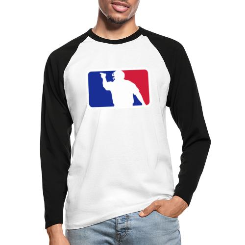 Baseball Umpire Logo - Men's Long Sleeve Baseball T-Shirt
