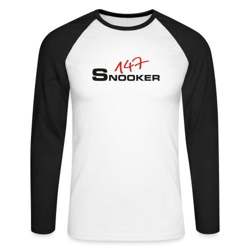 147_snooker - Männer Baseballshirt langarm