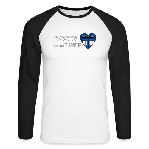 Tardis Heart - Men's Long Sleeve Baseball T-Shirt