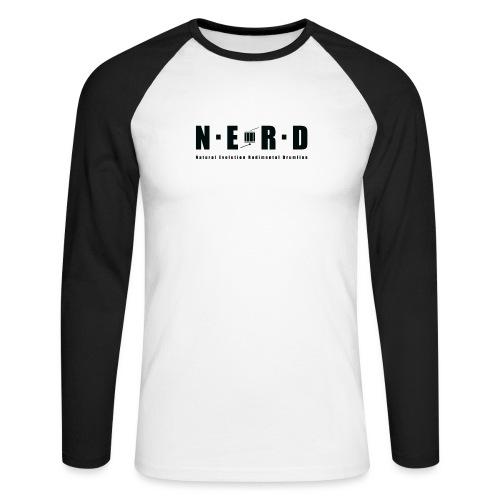 NERD BLACK - Langærmet herre-baseballshirt