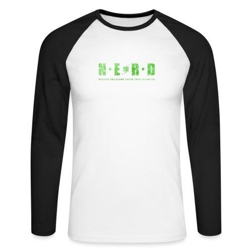 NERD Green - Langærmet herre-baseballshirt