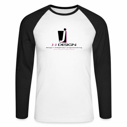 LOGO_J-J_DESIGN_FULL_for_ - Langærmet herre-baseballshirt