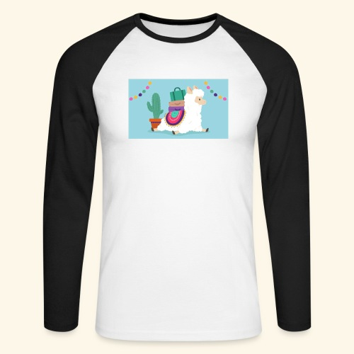 lama / alpaca - Männer Baseballshirt langarm