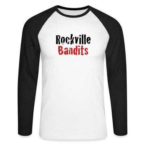 Rockville Bandits Schriftzug - Männer Baseballshirt langarm