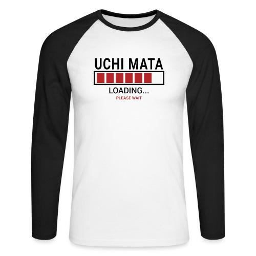 Uchi Mata loading... pleas wait - Koszulka męska bejsbolowa z długim rękawem