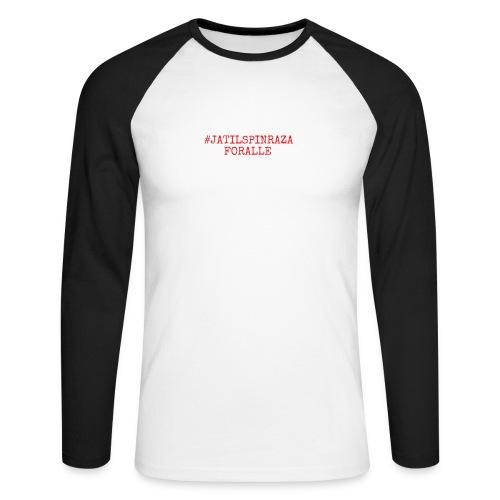 #jatilspinrazaforalle - rød - Langermet baseball-skjorte for menn