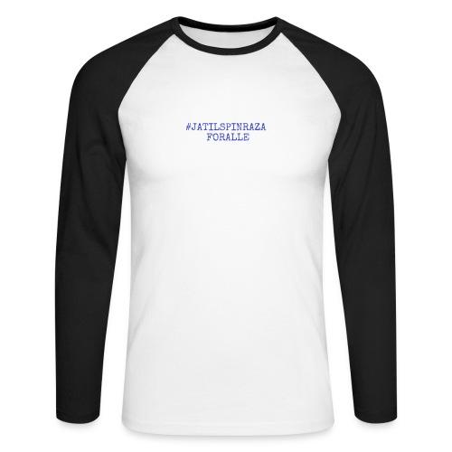 #jatilspinraza - blå - Langermet baseball-skjorte for menn