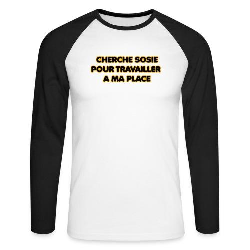 cherche_sosie2 - T-shirt baseball manches longues Homme