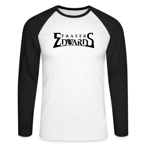 Fraser Edwards Men's Slim Fit T shirt - Men's Long Sleeve Baseball T-Shirt