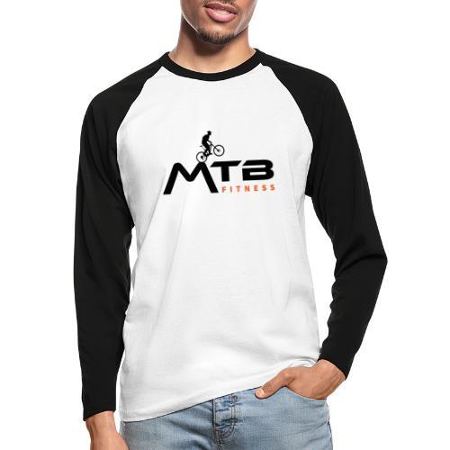 MTB Fitness Large Logo - Men's Long Sleeve Baseball T-Shirt