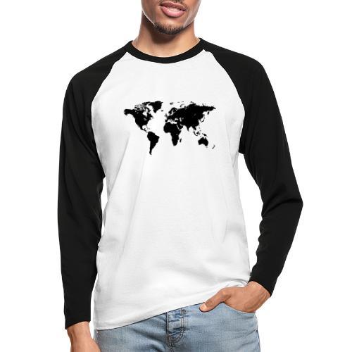 World Map - Männer Baseballshirt langarm