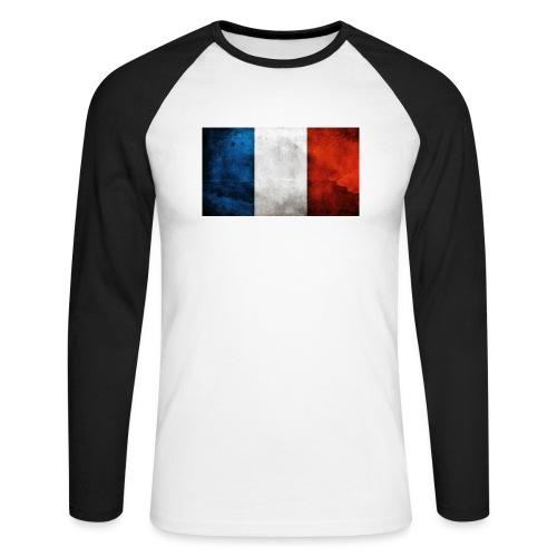 France Flag - Men's Long Sleeve Baseball T-Shirt