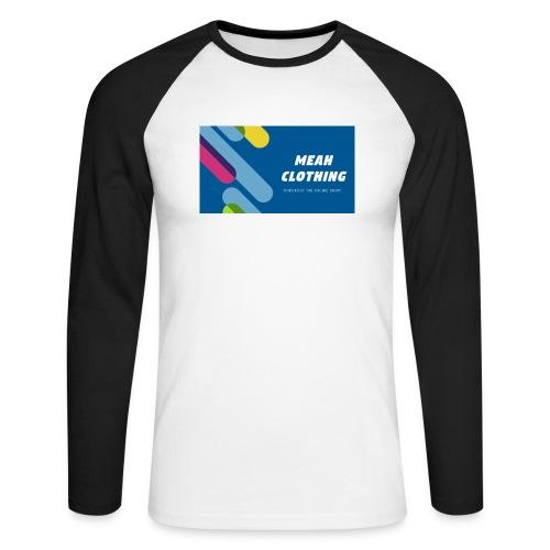MEAH CLOTHING LOGO - Men's Long Sleeve Baseball T-Shirt