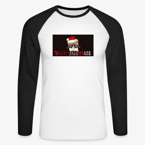 kiss - Koszulka męska bejsbolowa z długim rękawem