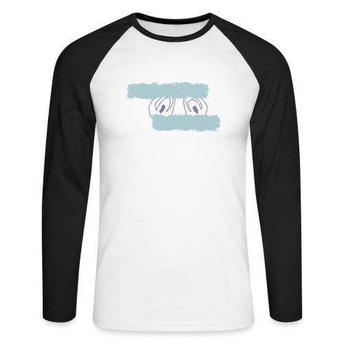 nieobcy domyślny - Koszulka męska bejsbolowa z długim rękawem