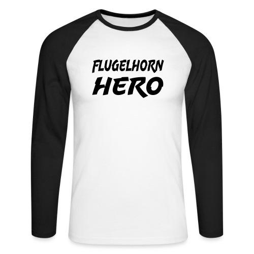 Flugelhorn Hero - Langermet baseball-skjorte for menn