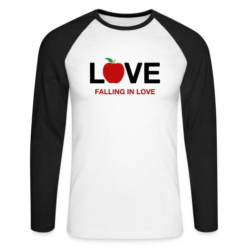 Falling in Love - Black - Men's Long Sleeve Baseball T-Shirt