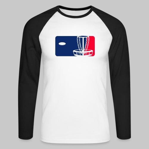 Major League Frisbeegolf - Miesten pitkähihainen baseballpaita
