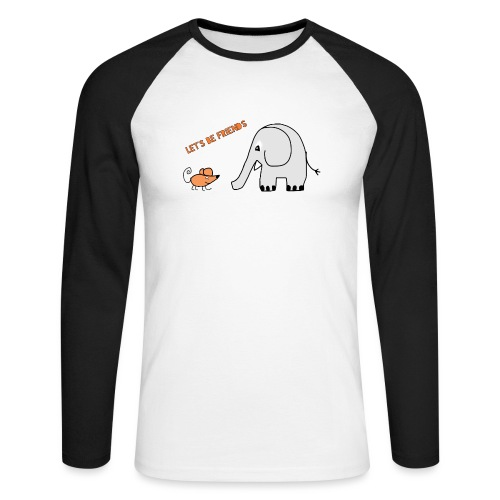 Elephant and mouse, friends - Men's Long Sleeve Baseball T-Shirt