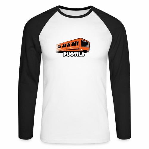 HELSINKI PUOTILA METRO T-Shirts, Hoodies, Gifts - Miesten pitkähihainen baseballpaita
