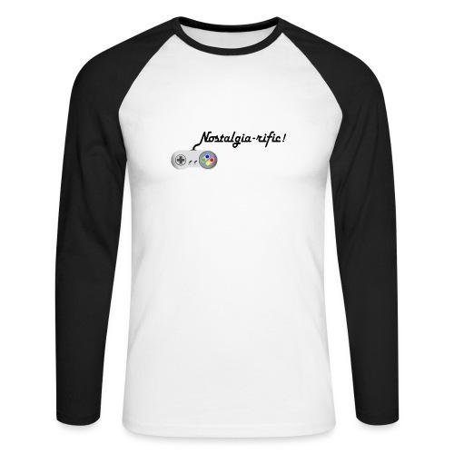 Nostalgia-rific! - Men's Long Sleeve Baseball T-Shirt