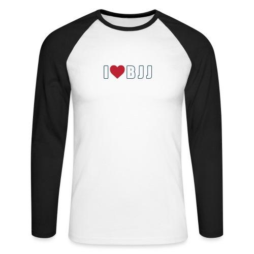 i love bjj - Koszulka męska bejsbolowa z długim rękawem