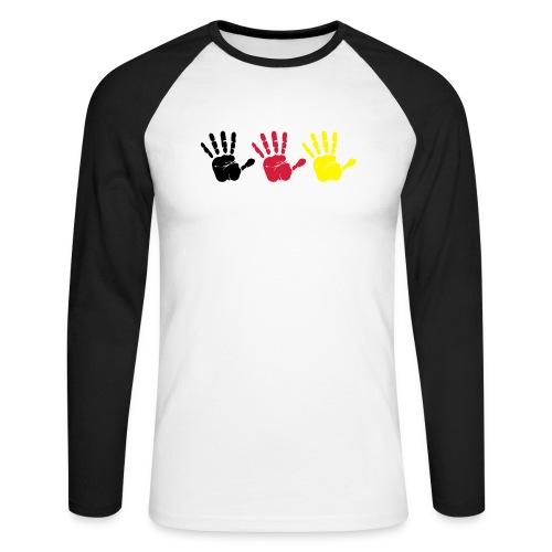 Handabdruck Trio - Männer Baseballshirt langarm