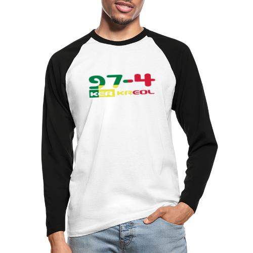 Design 974 ker kreol, rastafari - T-shirt baseball manches longues Homme