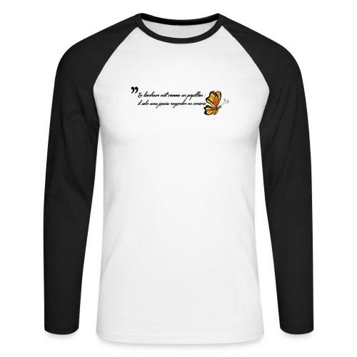 Papillon de bonheur - T-shirt baseball manches longues Homme