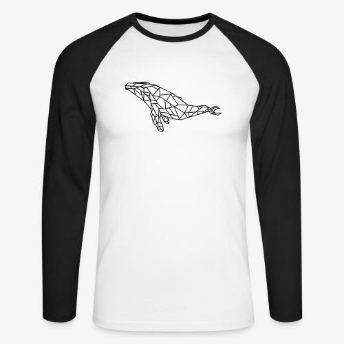 whale - Maglia da baseball a manica lunga da uomo