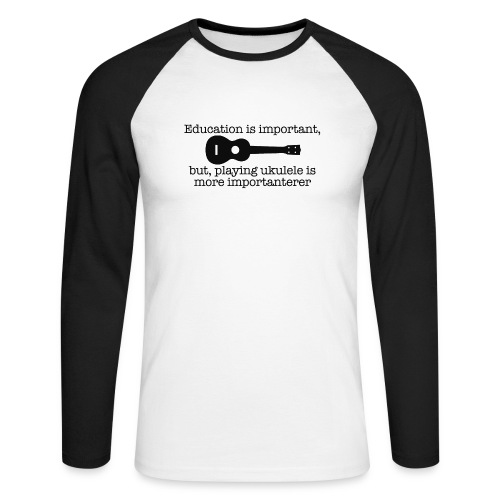 Important Ukulele - Men's Long Sleeve Baseball T-Shirt