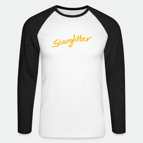 Starglitter - Lettering - Men's Long Sleeve Baseball T-Shirt