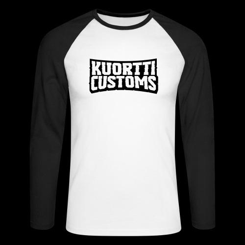 kuortti_customs_logo_main - Miesten pitkähihainen baseballpaita