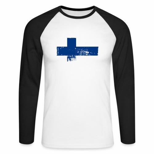 Suomen lippu, Finnish flag T-shirts 151 Products - Miesten pitkähihainen baseballpaita