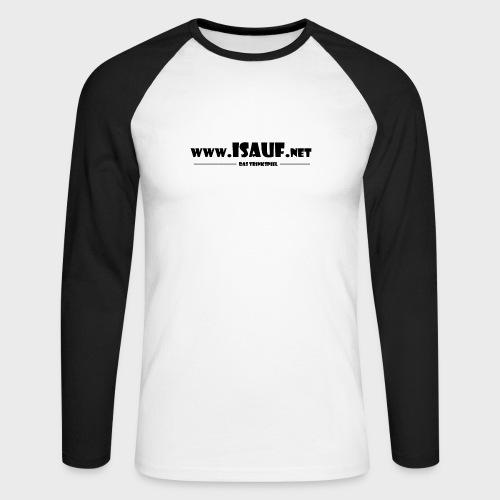 iSauf Logo 3 - Männer Baseballshirt langarm