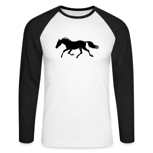 Cavallo - Maglia da baseball a manica lunga da uomo