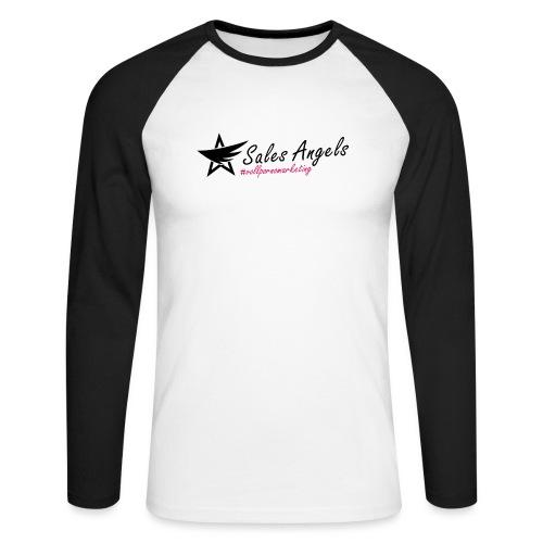 Salesangels HashTag V+ - Männer Baseballshirt langarm