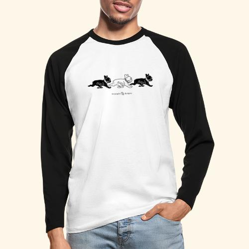 3frenchiesBW - T-shirt baseball manches longues Homme