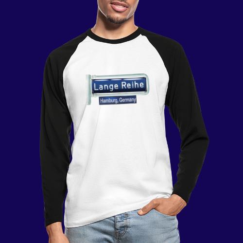 Lange Reihe: altes Straßenschild, Hamburg Germany - Männer Baseballshirt langarm