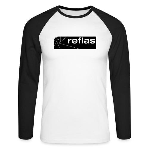 Reflas Clothing Black/Gray - Maglia da baseball a manica lunga da uomo