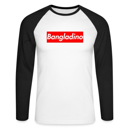 Bangladino - Maglia da baseball a manica lunga da uomo