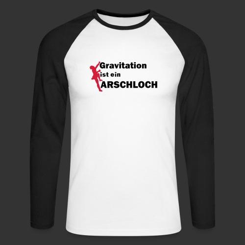Gravitation Arschloch - Männer Baseballshirt langarm