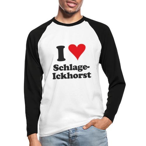 I Love Schlage-Ickhorst - Männer Baseballshirt langarm