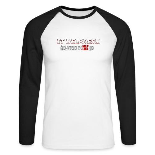 I.T. HelpDesk - Men's Long Sleeve Baseball T-Shirt