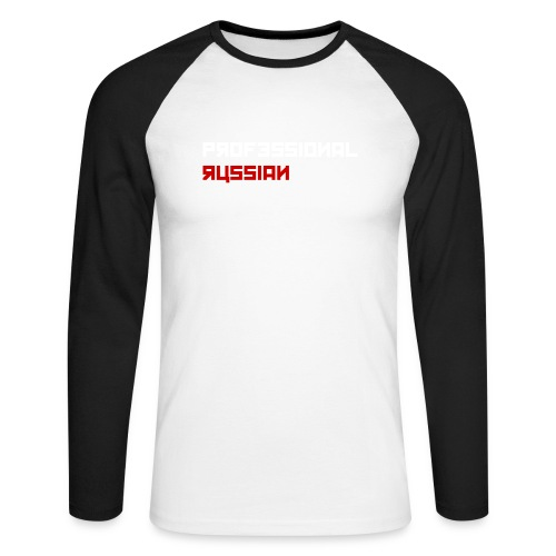 Professional Russian Blue - Mannen baseballshirt lange mouw