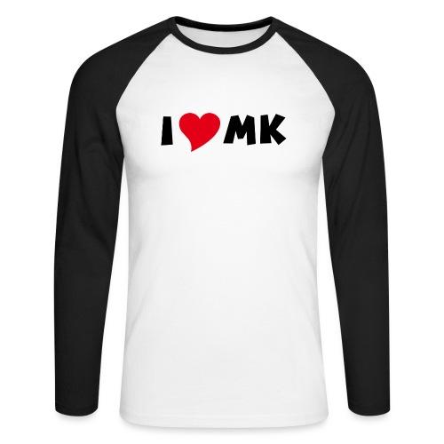 i love mk - Männer Baseballshirt langarm