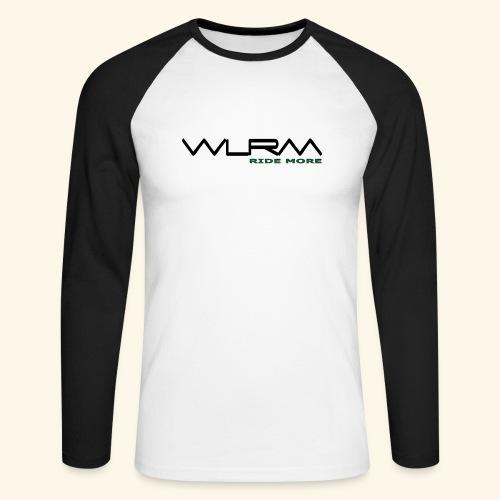 WLRM Schriftzug black png - Männer Baseballshirt langarm