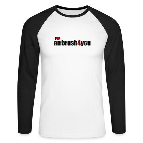 I Love airbrush4you - Männer Baseballshirt langarm